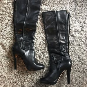 Diane Von Furstenberg Black Leather Boots